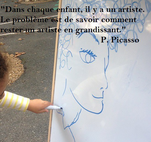 Citation enfant artiste Picasso