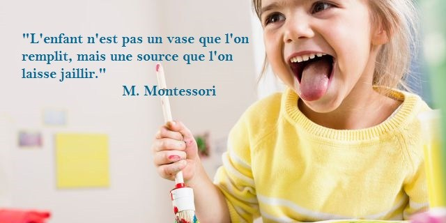 Citation enfant vase source Montessori